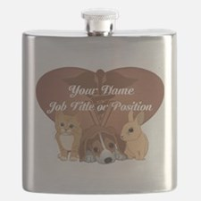 Personalized Veterinary Flask