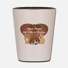 Personalized Veterinary Shot Glass
