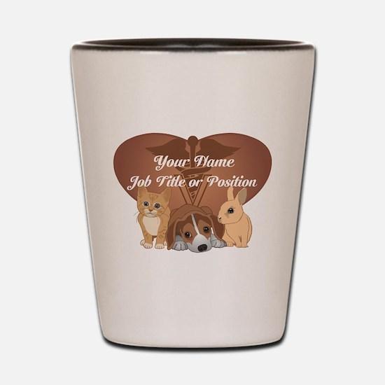 Personalized Veterinary Shot Glass