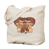 Personalized veterinarian Canvas Tote Bag