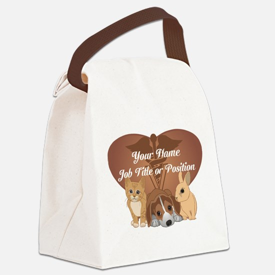 Personalized Veterinary Canvas Lunch Bag