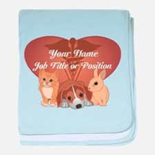 Personalized Veterinary baby blanket