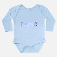 Blue Jackson Name Body Suit