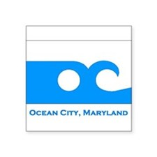 Ocean City MD Flag Rectangle Sticker