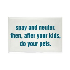 Spay and Neuter Rectangle Magnet (10 pack)