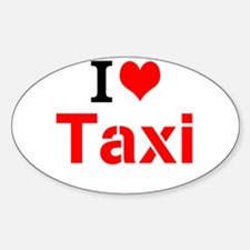 I Love Taxi Decal