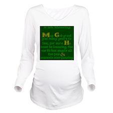 Green Angels Overflo Long Sleeve Maternity T-Shirt