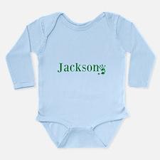 Green Jackson Name Body Suit