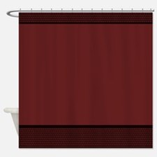Burgundy Basket Weave Elegant Shower Curtain