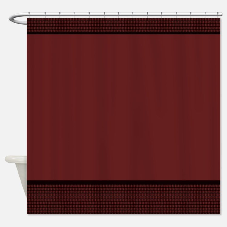 Burgundy Shower Curtains