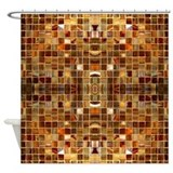 Gold shower curtain Shower Curtains