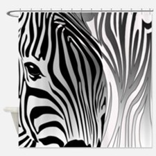 Zebra Contrast Black and White Shower Curtain