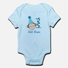 First Birthday Boy Monkey Body Suit