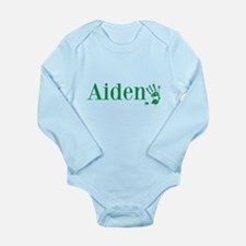 Green Aiden Name Body Suit