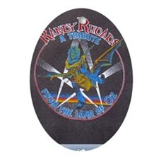 Randy Rhoads tribute Oval Ornament