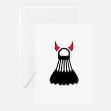 Badminton devil Greeting Cards (Pk of 10)
