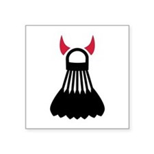 "Badminton devil Square Sticker 3"" x 3"""