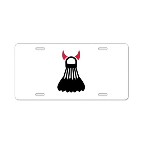 Badminton devil Aluminum License Plate