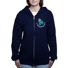 HU Logo Womens Dark Zip Hoodie
