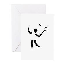 Badminton player symbol Greeting Cards (Pk of 20)