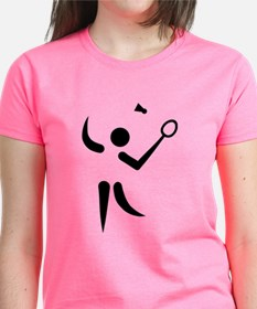 Badminton player symbol Tee