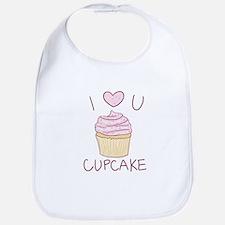 I Heart U Cupcake - Bib