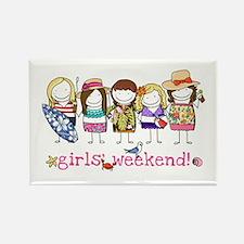 Girls' Weekend Rectangle Magnet