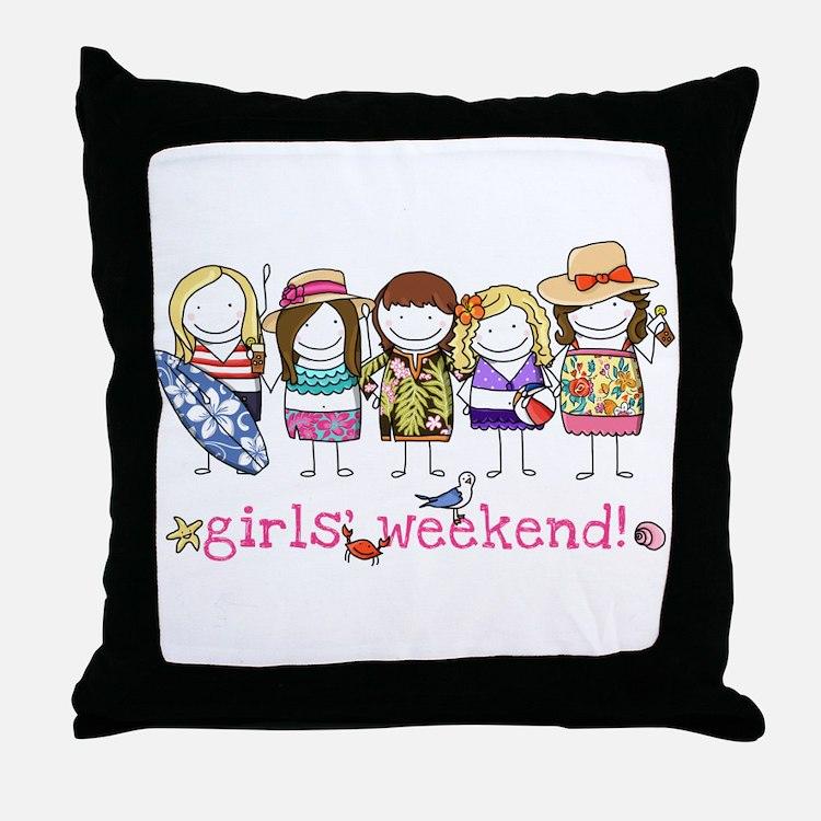 Girls' Weekend Throw Pillow