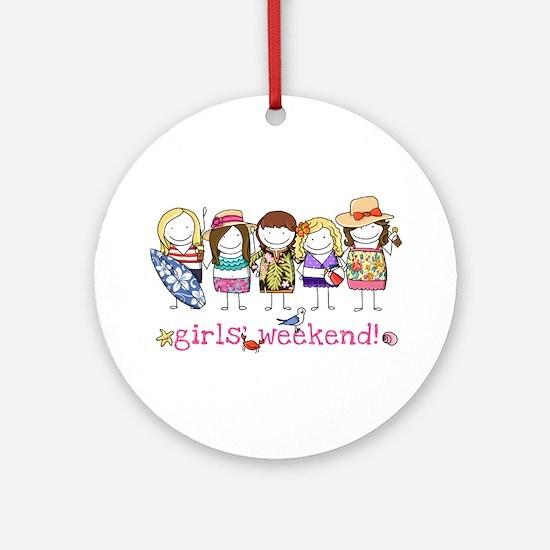Girls' Weekend Ornament (Round)