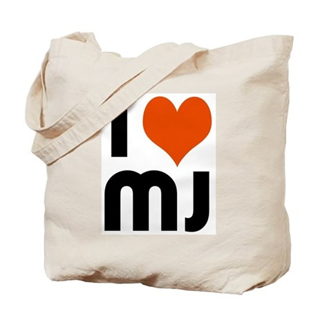 I Luv MJ Tote Bag