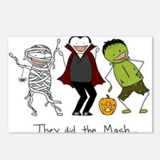 Monster Mash - Halloween Postcards (Package of 8)
