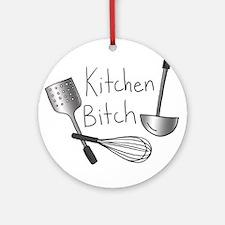 Kitchen Bitch Ornament (Round)