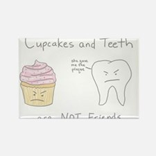 Cupcakes vs. Teeth Rectangle Magnet