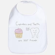 Cupcakes vs. Teeth Bib