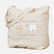 Cupcakes vs. Teeth Tote Bag