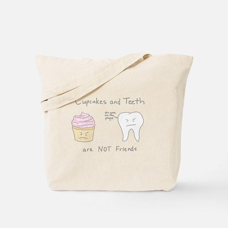 Cupcakes vs. Teeth Tote Bag