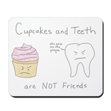 Cupcakes vs. Teeth Mousepad