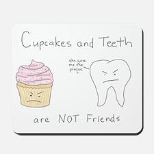 Cupcakes vs. Teeth Mousepad