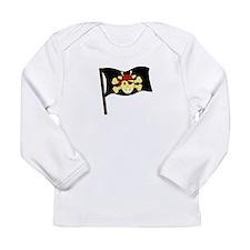 Jolly giraffe pirate flag Long Sleeve T-Shirt