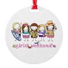 Girls Weekend Pink Ornament