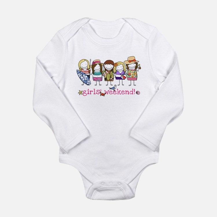 Girls Weekend Pink Long Sleeve Infant Bodysuit