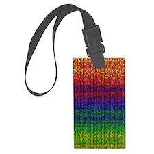 Rainbow Knit Photo Luggage Tag