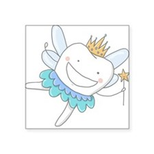 "Tooth Fairy Square Sticker 3"" x 3"""