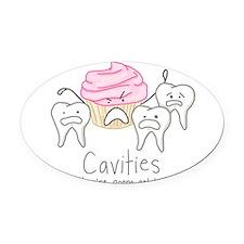 Cavities Oval Car Magnet