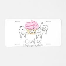 Cavities Aluminum License Plate