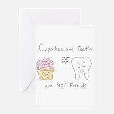 Cupcake vs. Teeth Greeting Card
