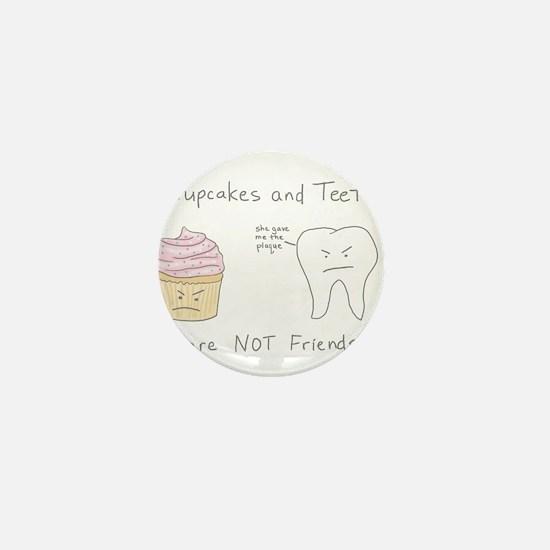 Cupcake vs. Teeth Mini Button