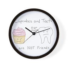 Cupcake vs. Teeth Wall Clock