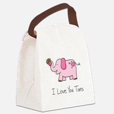 I Love You Tons Canvas Lunch Bag