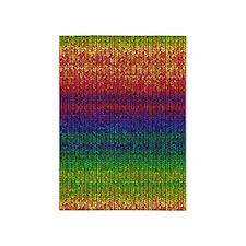 Rainbow Knit Photo 5'x7'Area Rug
